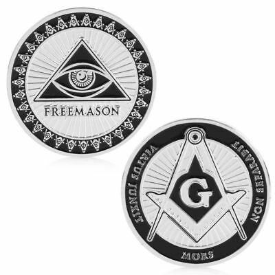 Masonic Freemasonry Commemorative Coin Token Art Collectible Collection Physical