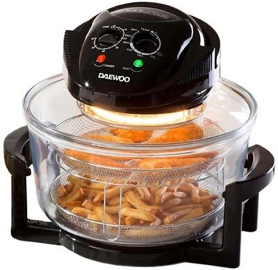 Daewoo Halogen Air Fryer Low Fat Oven with 12L Capacity Self Cleaning 1300W Cook