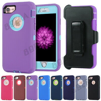 Shockproof Heavy Duty Hybrid Military Case Shell, Clip Fit Otterbox For iPhone