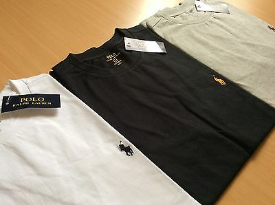 NWT Authentic Men's Polo Ralph Lauren Custom Fit Crew Neck Short Sleeve Tees
