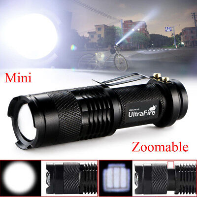 Tactical T6 Zoomable 5000LM LED 3 Modes Police Flashlight Torch Lamp Light