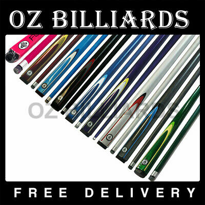 "57"" Full Length 2-Piece Pool Snooker Billiard Graphite Cue Free Delivery"