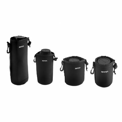4X Neoprene Soft Protector Lens Pouch Case Bag S M L XL Set for DSLR Camera CNTH