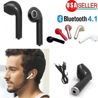 For Apple iPhone 7 8 X Wireless Bluetooth Earphone in Ear Stereo Earbud Headset