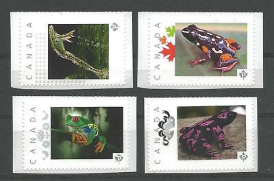 """Canada Post Picture Postage MINT ** Frog Collection - 4 Differents """"P"""" stamps **"""