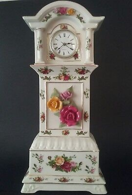Royal Albert Old Country Roses Large Grandfather Clock - Perfect