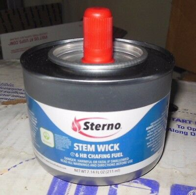 Sterno Stem Wick (6) Hr. Chafing Fuel 7.41 Oz. Can / 12 Cans Per Box