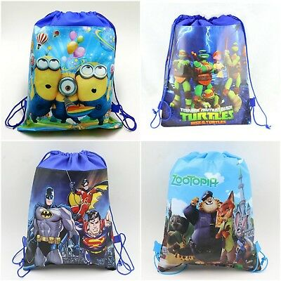 Aus Seller.Kids BATMAN/MINIONS  Drawstring Backpack .swimming/library/kindy bag