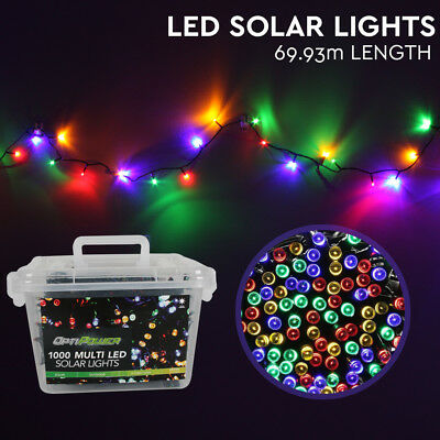 Solar LED Lights 1000 Multi-Colour Christmas Party Patio Wedding String Lighting