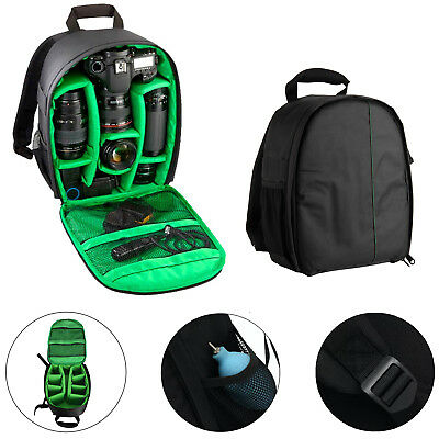 Waterproof Backpack DSLR SLR Camera Lens Bag Rucksack For Canon Nikon Sony Green