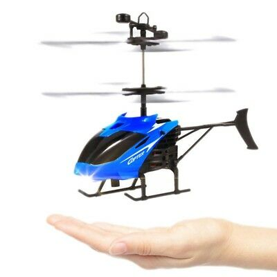 Indoor Drone Helicopter Remote Control With Gyro Induction Control Toy Gift NEW