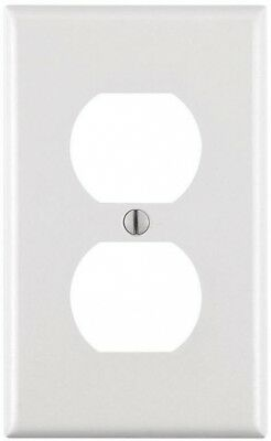 10-PACK Leviton 1-Gang Duplex Outlet Wall Plate Durable Plastic W/ Screws ,White