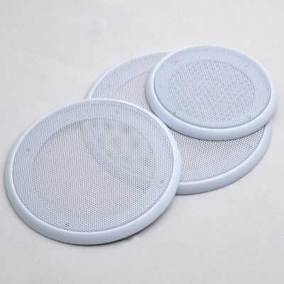 UK 4/5/6.5/8 inch Car Tereo Metal Mesh Speaker/Subwoofer Grill Cover Guard White