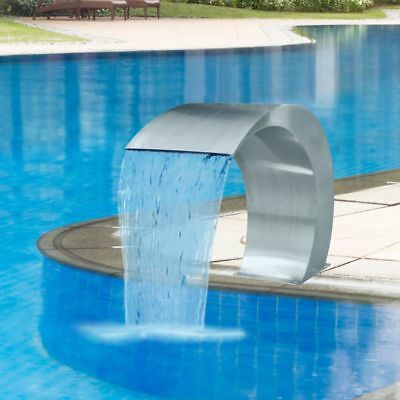 vidaXL Garden Waterfall Pool Fountain Stainless Steel 45x30x60cm Outdoor Decor