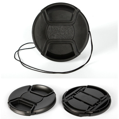 77mm center pinch snap on Front Lens Cap Cover for Canon Nikon Sony w string