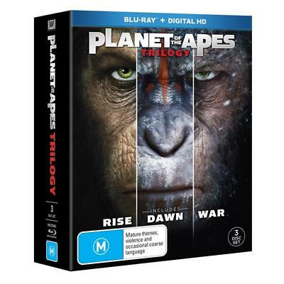 War For The Planet Of The Apes Trilogy (Rise/Dawn/War) Blu-ray BRAND NEW SEALED