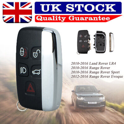 For Land Rover Lr4 Range Evoque Sport 5 Button Remote Smart Key Fob Case Shell