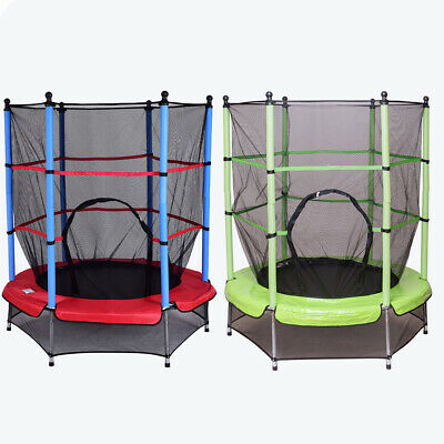 4.5FT Junior Kid Trampoline Safety Net&Skirt Kids Toddlers Indoor/Outdoor 55Inch