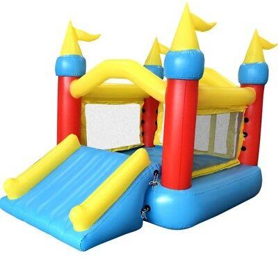 Big Air Castle Bouncer with Slide Jumping Playing Kids Electric Inflation Pump