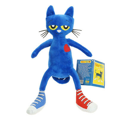 Pete the Cat Book I Love My White Shoes 32cm Soft Plush Doll Stuffed Toy Anime