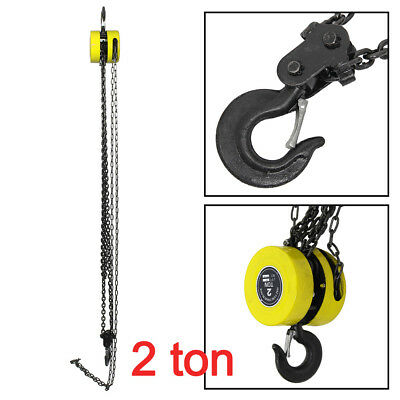 2 Ton Chain Workshop Lifting Block & Tackle Hoist Heavy Duty Car Load Tool