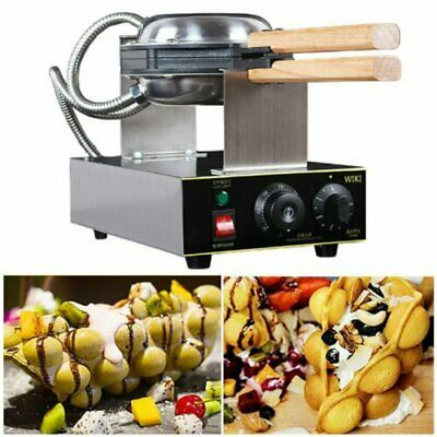 New 220V Iron Nonstick Electric Egg Cake Oven Bread Waffle Baker Maker Machine