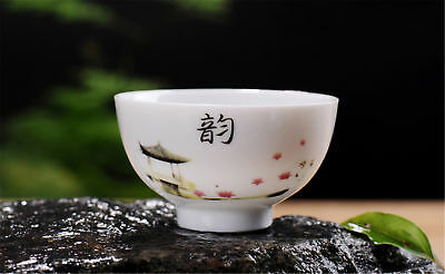 1pc blue and white 韵 porcelain teacup kung fu tea cup ceramic jingdezhen