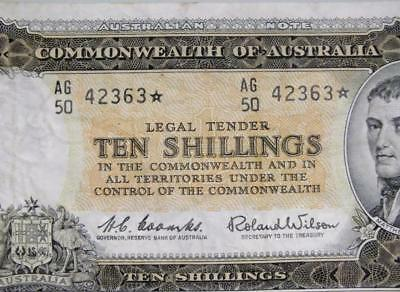 STAR NOTE * Ten Shilling 10/- R17s Commonwealth of Australia Coombs Wilson