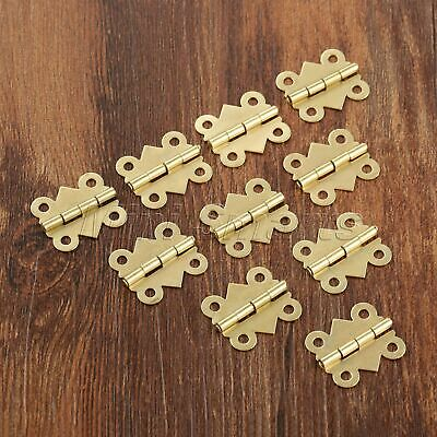 Mini Butterfly Brass Plate Hinges Crafts Dollhouse Jewelry Box Decorative Hinges