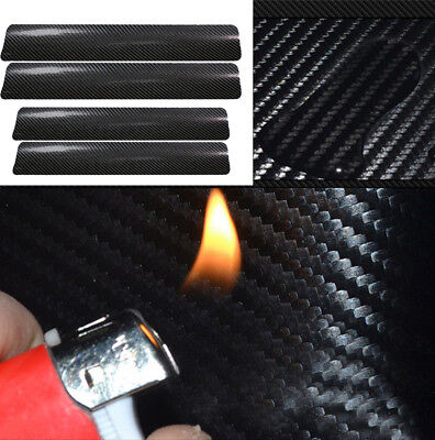 4pcs Car Door Sill Scuff Welcome Pedal Protect Sticker Carbon Fiber Accessories