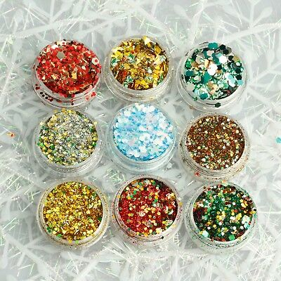 Christmas Party Cosmetic Face Eye Glitter Mixes 2g Pot [Buy 3 Get 3 Free]