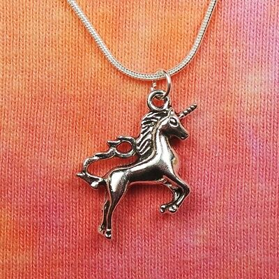 Unicorn Necklace, Re'em Horn Hooves Horse Lover Scotland Charm Pendant Jewelry