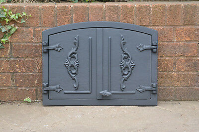 54.8 x 40.5 cm cast iron fire door clay bread oven doors pizza stove fireplace