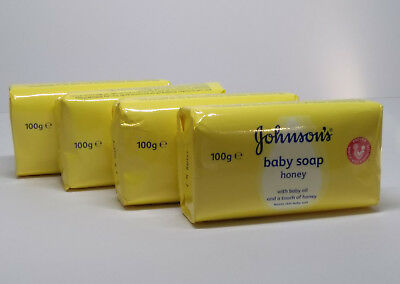 Johnson's Baby Soap With Honey For Baby Soft Skin 4 x 100g pack