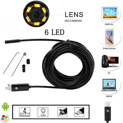 5/7/8mm 6LED Android PC HD Endoscope Waterproof Borescope Inspection Camera