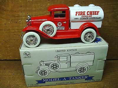 Texaco Model A Fire Chief Tanker Truck <NOS Collectible> Die Cast Bank