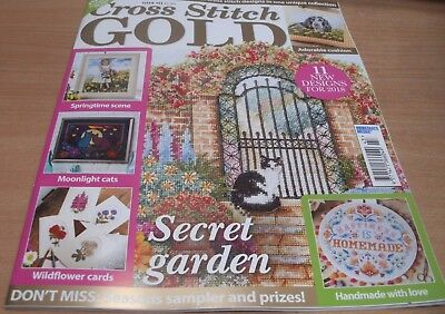 Cross Stitch Gold magazine #143 2017 Secret Garden Moonlight Cats Wildflowers