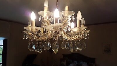 ancien lustre marie Therese12 lampes