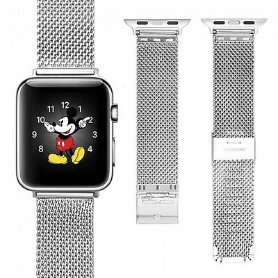 New 100% Stainless Steel Replacement Strap Band Apple Watch 38 42mm Series 1 2 3