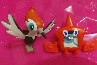 McDonald's 2017 Pokemon Sun Moon Rotom Pokedex Pikipek USED Happy Meal Figures
