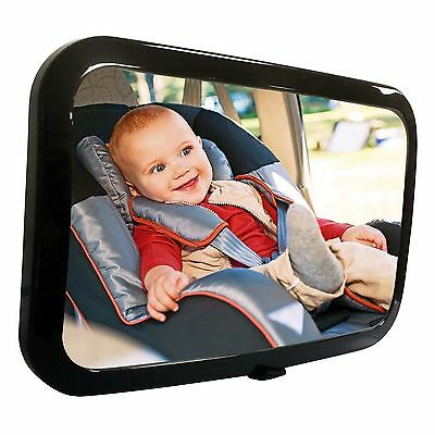 Large Wide Easy View Rear Baby Child Back Seat Car Safety Mirror Headrest Mount