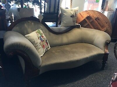 Edwardian Chaise Lounge Settee Double Ended Antique Vintag