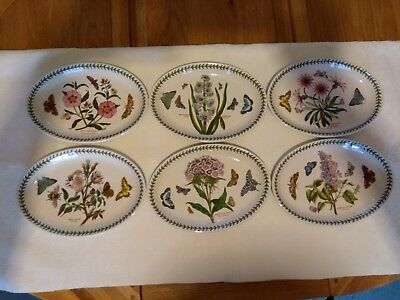 6 Portmeirion  Oval Plates excellent  condition