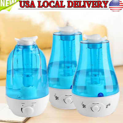 3/ 4L Ultrasonic LED Aroma Humidifier Air Diffuser Purifier Lonizer Atomizer US