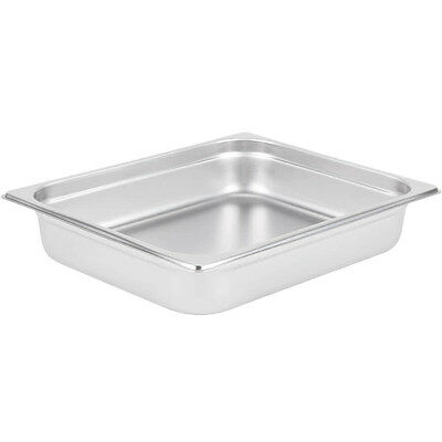 "1/2 SIZE Stainless Steel 2 1/2"" Deep 4 PACK Chafing Dish Chafer Pan Half Pans"
