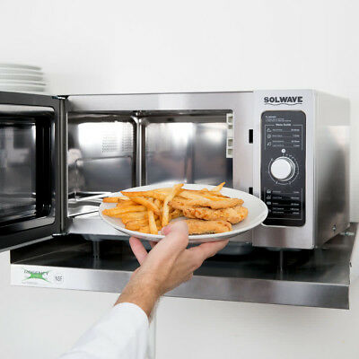 Solwave Stainless Steel Commercial Microwave with Dial Control - 120V, 1000W