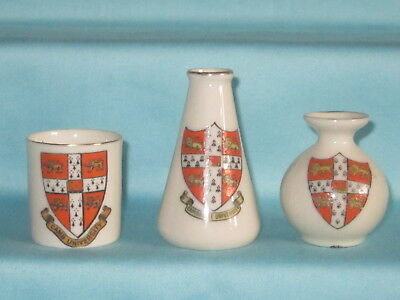 3 Goss / Crested Pieces - all with CAMBRIDGE UNIVERSITY crest