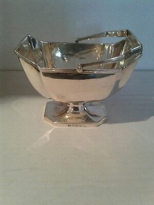 Georgian Solid Sterling Silver Sugar Basket London 1793
