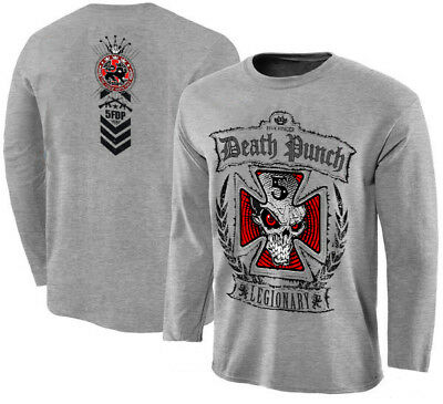 FIVE FINGER DEATH PUNCH-Legionary,HEATHER GREY T-shirt long sleeve