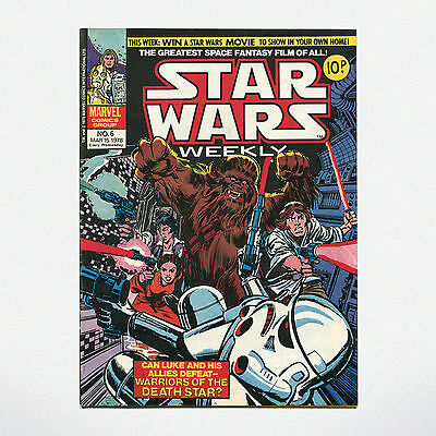 STAR WARS WEEKLY - No. 6 ( UK / 1978 ) ***VERY GOOD CONDITION***
